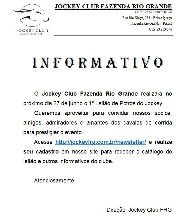 Informativo Leilão