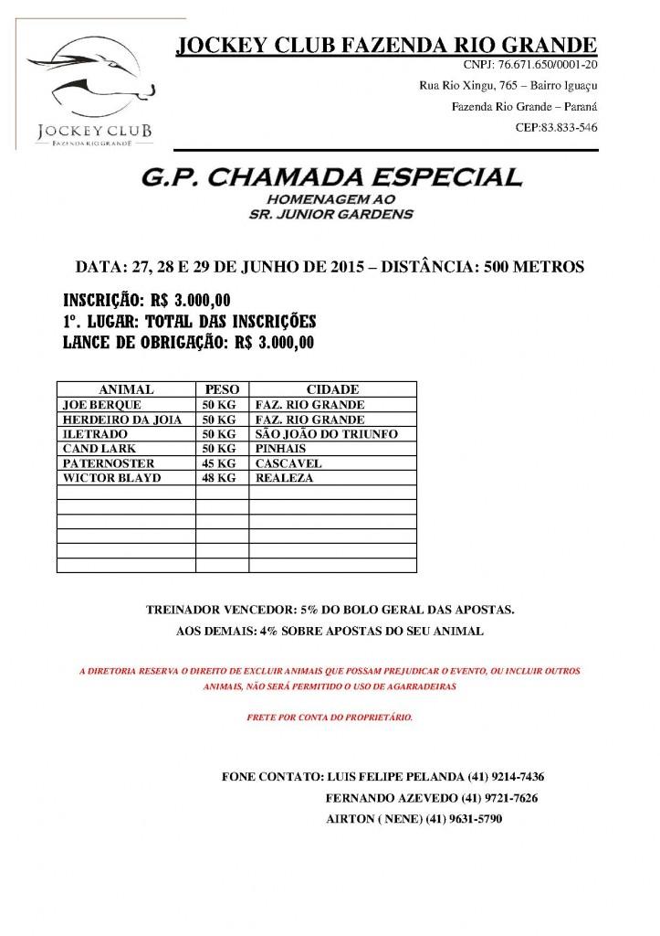 GP Chamada Especial