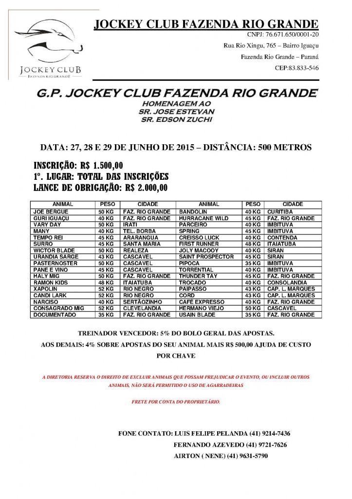 GP Jockey Club Fazenda Rio Grande